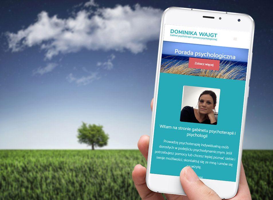 Mobilna wersja strony dla psychoterapeuty