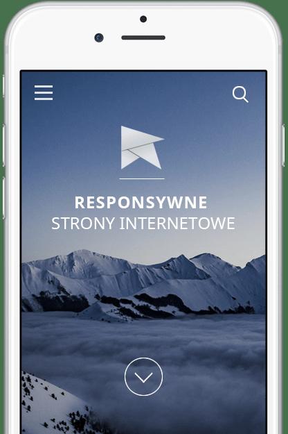 Strona responsywna na telefonie